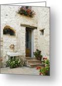 Entrance Door Greeting Cards - Doorway to Home Greeting Card by Andersen Ross