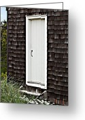 Nauset Beach Greeting Cards - Doorway with Daisies Greeting Card by Michelle Wiarda