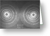 Drawings Drawings Greeting Cards - Doppler Effect Parallel Universes Greeting Card by Jason Padgett