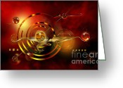 Space Art Greeting Cards - Dore dans le universe Greeting Card by Franziskus Pfleghart