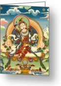 Thanka Greeting Cards - Dorje Yudronma Greeting Card by Sergey Noskov