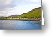Sea Wall Greeting Cards - Dornie Village Greeting Card by Chris Thaxter