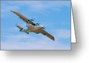 Flying Greeting Cards - Dornier Do-24 Greeting Card by Adam Romanowicz