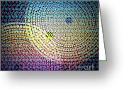 Gradient Greeting Cards - Dots Circles Greeting Card by Atiketta Sangasaeng