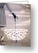 Polka Dots. Greeting Cards - Dotted Greeting Card by Joana Kruse