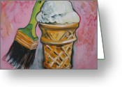Food Art Painting Greeting Cards - Double Icon Greeting Card by Tilly Strauss