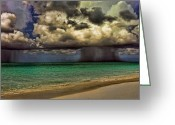 Rain Cloud Greeting Cards - Double Trouble Greeting Card by Joetta West