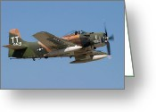 Plane Greeting Cards - Douglas AD-4 Skyraider Greeting Card by Adam Romanowicz