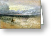 Ocean Landscape Pastels Greeting Cards - Dover  Greeting Card by Joseph Mallord William Turner