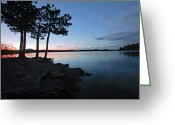 Sunset Posters Photo Greeting Cards - Dowdy Lake Silhouette Greeting Card by James Steele