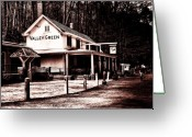 Fairmount Park Greeting Cards - Down at Valley Green Greeting Card by Bill Cannon