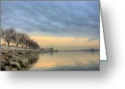 Alexandria Greeting Cards - Down River Greeting Card by JC Findley