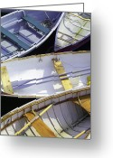 Row Boat Greeting Cards - Downeast Gridlock Greeting Card by Brent Ander