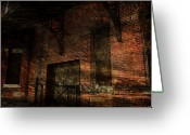 Abandoned Train Greeting Cards - Downfall Greeting Card by Scott Hovind