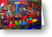 Riverwalk Greeting Cards - Downtown Attractions Greeting Card by Patti Schermerhorn