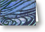 Dark Grey Greeting Cards - Downtown Blues Greeting Card by Tim Allen