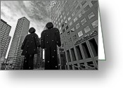 Brian Kerls Greeting Cards - Downtown Couple Greeting Card by Brian Kerls
