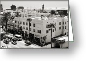 Vendor Greeting Cards - Downtown In The Distance Greeting Card by Ricky Barnard
