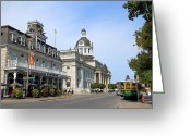 Kingston City Hall Greeting Cards - Downtown Kingston Greeting Card by Valentino Visentini