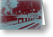 Cities Digital Art Greeting Cards - Downtown LA Greeting Card by Irina  March