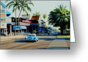 Lahaina Greeting Cards - Downtown Lahaina Maui Greeting Card by Frank Dalton