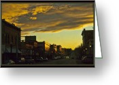 Lewistown Greeting Cards - Downtown Lewistown Greeting Card by Sheri Bartoszek