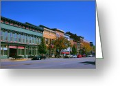Historic Street Greeting Cards - Downtown Madison I Greeting Card by Steven Ainsworth