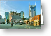 Nashville Greeting Cards - Downtown Nashville III Greeting Card by Steven Ainsworth