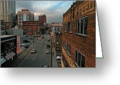 Nashville Greeting Cards - Downtown Nashville Scene Greeting Card by Steven  Michael