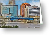 Toledo Greeting Cards - Downtown Toledo Riverfront Greeting Card by Jack Schultz