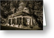 Lassen Greeting Cards - Doyle Grocery and Hotel Greeting Card by Scott McGuire