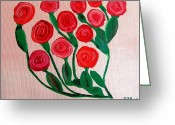 Center Greeting Cards - Dozen Roses Greeting Card by Buddy Paul