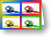 Trouble Greeting Cards - Dozer Mania III Greeting Card by Kip DeVore