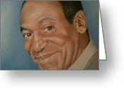 Albert Drawings Greeting Cards - Dr Huxtable Greeting Card by Brian Broadway