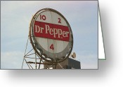 Americana Greeting Cards - Dr. Pepper Bottle Top Greeting Card by Frank Romeo