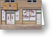 Entrance Door Greeting Cards - Dr Pepper Musuem Greeting Card by Jeremy Woodhouse