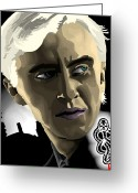 Deathly Hallows Greeting Cards - Draco Greeting Card by Lisa Leeman