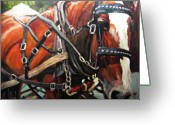 Horse Greeting Cards - Draft Horse Greeting Card by Brian Simons