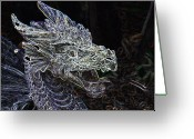 Designers Choice Digital Art Greeting Cards - Dragon Lair Greeting Card by Don  Wright