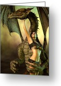 Dragons Greeting Cards - Dragon Lover Greeting Card by Daniel Eskridge