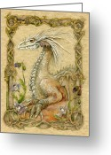 Fantasy Creature Greeting Cards - Dragon Greeting Card by Morgan Fitzsimons