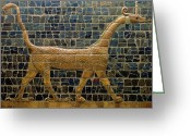Mythological Greeting Cards - Dragon of Marduk - On the Ishtar Gate Greeting Card by Anonymous