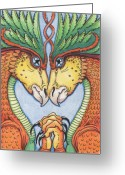 Lizard Greeting Cards - Dragons Desire Greeting Card by Amy S Turner