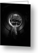 Concrete Greeting Cards - Drainpipe Greeting Card by Murray Bloom
