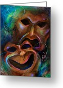Tragedy Greeting Cards - Drama Greeting Card by Michael Lang