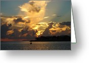 After Sunset Greeting Cards - Dramatic Clouds Greeting Card by Susanne Van Hulst