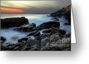 Heavenly Greeting Cards - Dramatic Coastline Greeting Card by Carlos Caetano