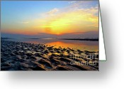 Scenic Framed Prints Prints Greeting Cards - Dramatic Dawn Greeting Card by Kimberly Nickoson