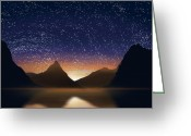 Sunlight Greeting Cards - Dramatic Landscape  Greeting Card by Setsiri Silapasuwanchai