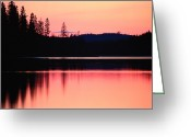 Chromatic Greeting Cards - Dramatic Picture Of A Forest-edged Lake Greeting Card by Mattias Klum